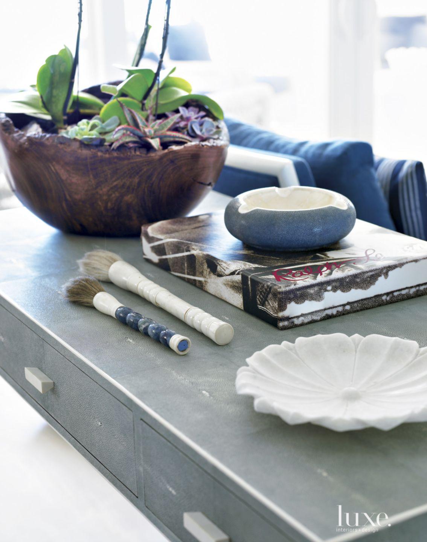 Modern White Living Room Vignette with