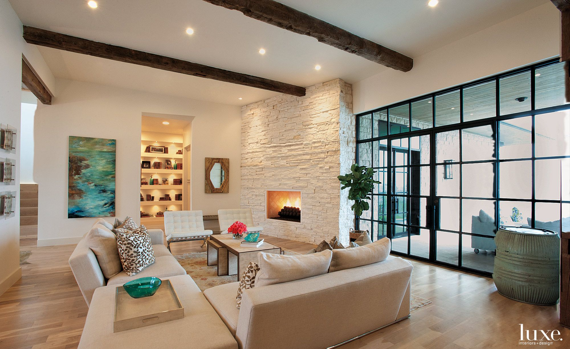 Modern Neutral Open Living Room
