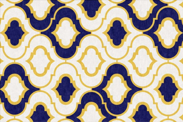 Yellow Blue Rug Rugs Ideas